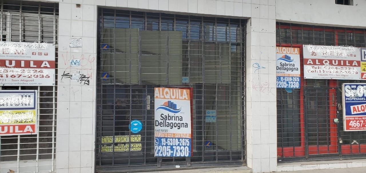 Alquiler local en San miguel sobre Av.Peron